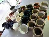 LOT OF COFFE CUPS & CERAMIC MUGS