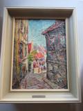 FRAMED OLD TOWN ARTWORK