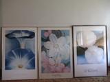 (3) FRAMED GEORGIA O'KEEFE PIECES OF ARTWORK