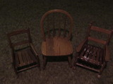 (3) SMALL WOODEN CHAIRS