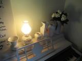 LAMP & (5) VASES