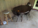TABLE W/ (4) CHAIRS & (2) STOOLS