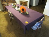 DINING ROOM TABLE & (4) CHAIRS