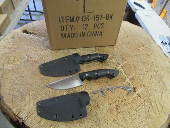 (12) KLECKER KNIVES DK-151-BK ABIQUA HUNTING KNIFE