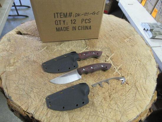 (12) KLECKER KNIVES DK-GC ABIQUA HUNTING KNIFE