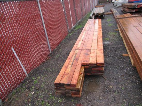 LOT OF ASSORTED WOODEN BEAMS