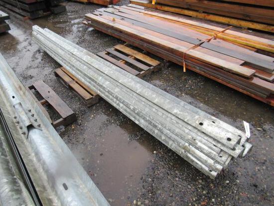 (10) 162'' GALVANIZED STEEL GUARDRAILS