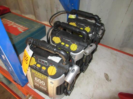 (2) 300V STANLEY 300 AMP JUMPIT BATTERY JUMP BOXES, 600V STANLEY 300 AMP JU
