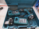 MAKITA CORDLESS DRILL W/ (2) BATTERIES & (2) CHARGERS