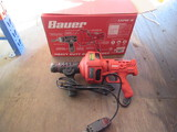 BAUER AUTO FEED HAND HELD 3/4''-1 1/2'' DRAIN CLEANER MDL#: 1724E-B IN BOX
