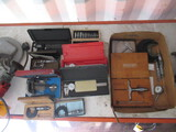 BOX OF ASSORTED MICROMETERS & CALIPERS