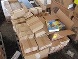 (4) BOXES OF STOP WATCHES, BOX OF FUNNELS, BOX OF BLOW UP GLOBES, BOX OD SE
