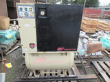 INGERSOLL RAND ROTARY SCREW AIR COMPRESSOR, MDL#: UP6-7.5-125, 80 GAL TANK,