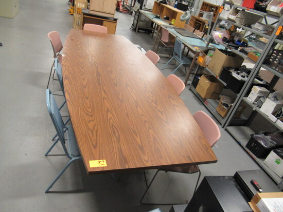 CONFERENCE TABLE W/ASSORTED CHAIRS