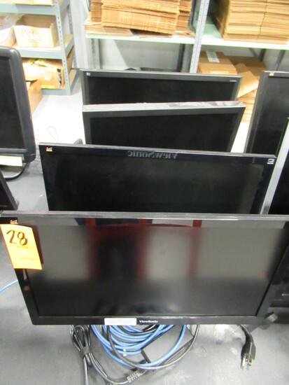 (4) ASSORTED COMPUTER MONITORS