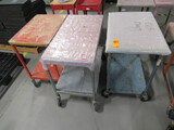 (3) ASSORTED SIZE ROLLING CARTS