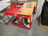 (2) ASSORTED SIZE ROLLING CARTS