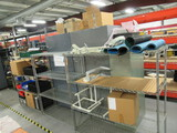 (3) 4 SHELF METRO RACKS W/CONTENTS - ASSORTED ELECTRICAL COMPONENTS