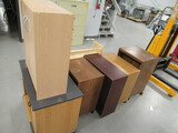 (7) ASSORTED SIZE WOOD CABINETS/SHELVES