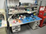METAL WORK STATION W/ASSORTED ELECTRONICS TESTING EQUIPMENT