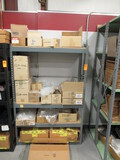 SECTION OF METAL RACKING W/ASSORTED SIZE POLY BAGS