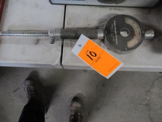 Fraser Gauge Co 12 to 18'' drum gauge model# 202D