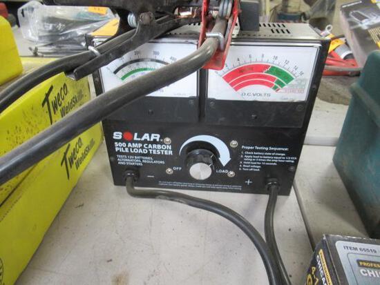 Solar 500 amp carbon pile load tester for testing 12v batteries and altenators