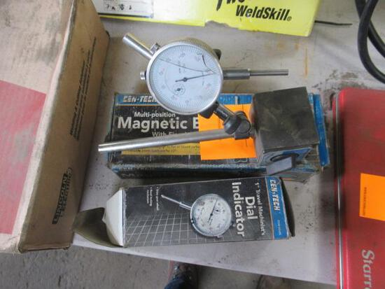 Centech multi position mag base w/dial indicator lens cracked