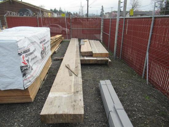 LOT OF ASSORTED GLULAM BEAMS