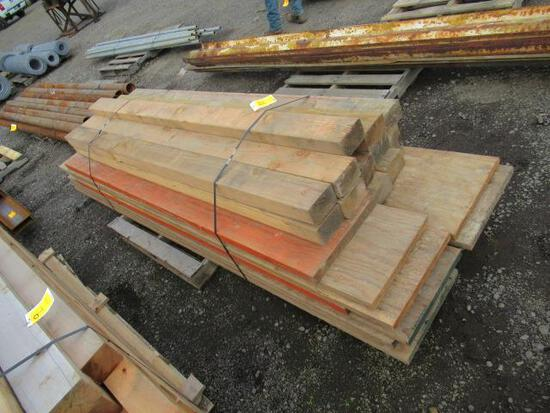 PALLET OF ASSORTED WOODEN PLANKS & BEAMS