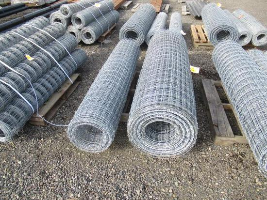 (2) ASSORTED LENGTH ROLLS OF 6' FIELD FENCE
