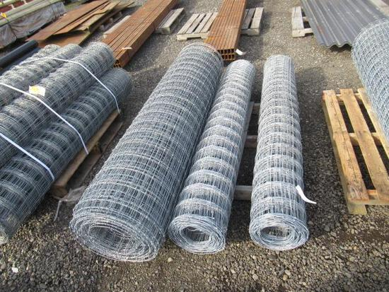 (3) ASSORTED LENGTH ROLLS OF 6' FIELD FENCE