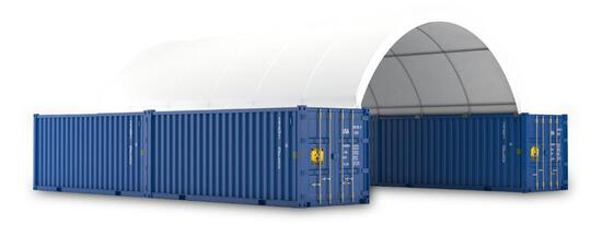20' X 40' PVC FABRIC CONTAINER ROOF SHELTER (UNUSED IN CRATE)