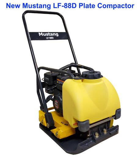 MUSTANG LF88D PLATE COMPACTOR (NO SPRAY TANK)