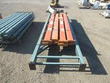 PALLET RACKING - (2) 13' PALLET RACKING UPRIGHTS & (8) 106'' CROSS ARMS