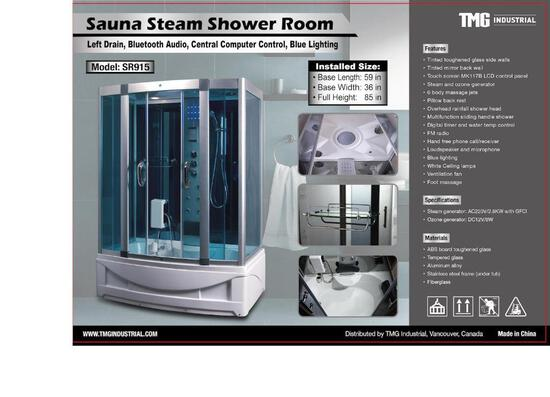 SAUNA STEAM SHOWER ROOM