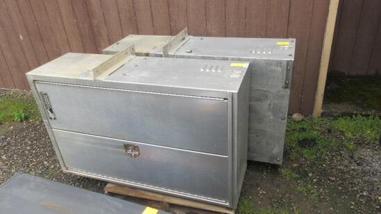 (2) HIGHWAY PRODUCTS STAINLESS TRUCK TOOL BOXES