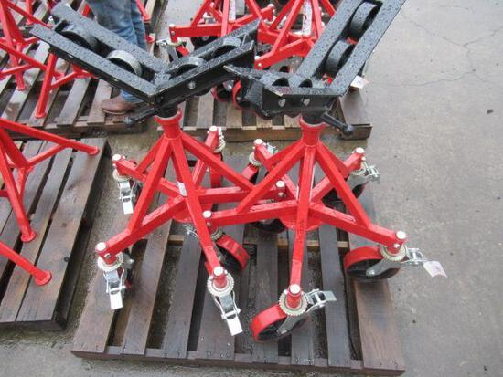 (2) V-HEAD ROLLER PIPE STANDS