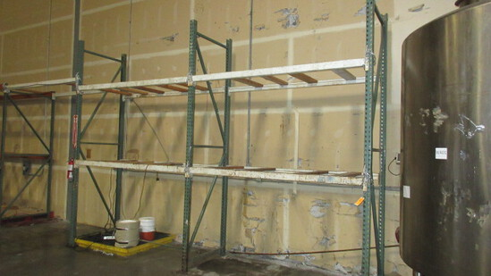PALLET RACKING - (3) 3'6'' X 12' UPRIGHTS & 8' CROSS ARMS