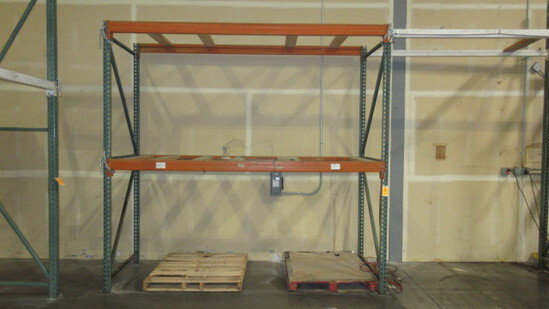 PALLET RACKING - (3) 3'8'' X 10' UPRIGHTS & 8' CROSS ARMS