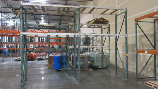 PALLET RACKING - (5) 3'6'' X 12' UPRIGHTS & 7' CROSS ARMS