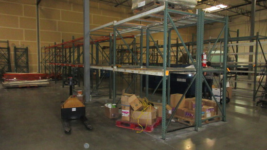 PALLET RACKING - (9) 3'8'' X 12' UPRIGHTS & 8' CROSS ARMS