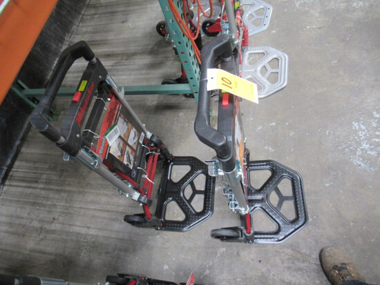 (2) MILWAUKEE COLLAPSIBLE HAND TRUCKS