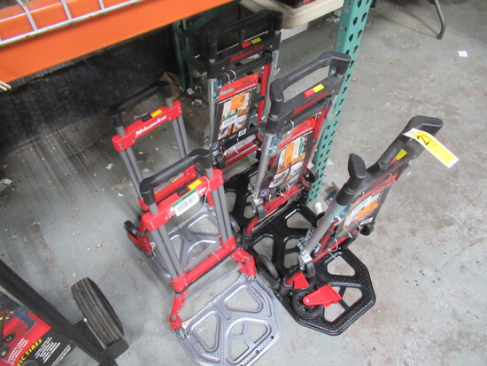 (5) MILWAUKEE COLLAPSIBLE HAND TRUCKS (MISSING/BROKEN PARTS)