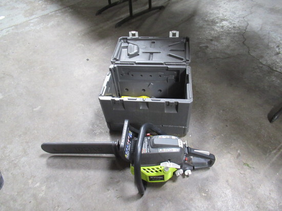 RYOBI 16'' GAS POWERED CHAINSAW W/CASE