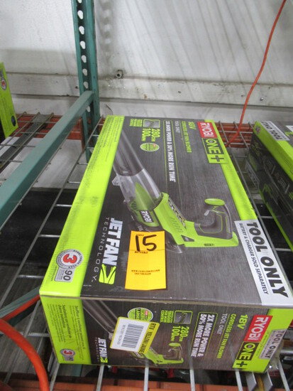 RYOBI 18V CORDLESS JET FAN BLOWER (NO BATTERY OR CHARGER)