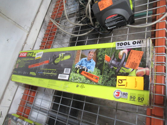 RYOBI 22'' 18V CORDLESS HEDGE TRIMMER (NO BATTERY OR CHARGER