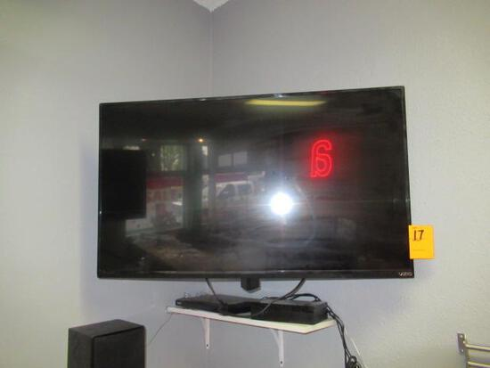 VISIO TV W/DVD PLAYER AND (2) SPEAKERS