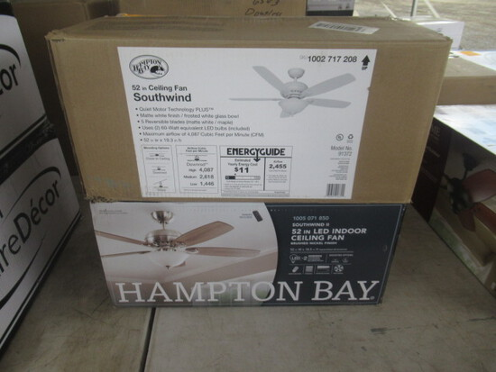 (2) HAMPTON BAY 52'' CEILING FANS