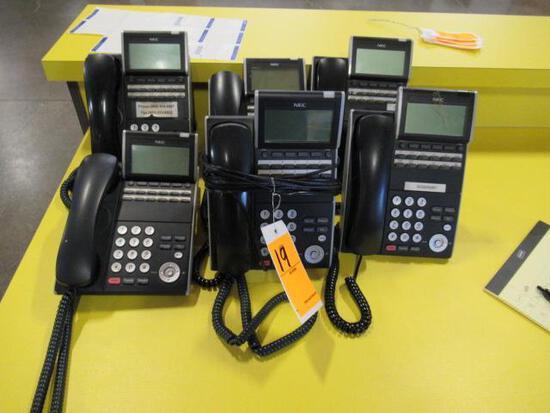 (6) NEC DESK PHONES